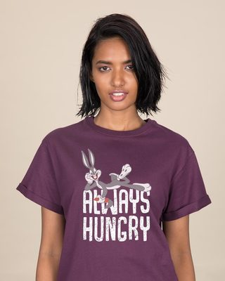 Shop Always Hungry Bugs Boyfriend T-Shirt (LTL)-Front