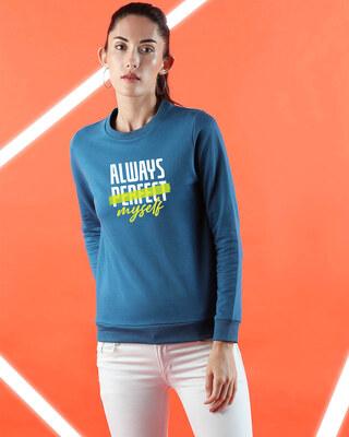 Shop Always Myself Fleece Sweater AW19 Digital Teal -Front