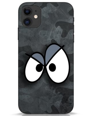 Shop Angry Camo iPhone 11 Mobile Cover-Front