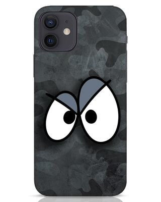 Shop Angry Camo iPhone 12 Mobile Cover-Front