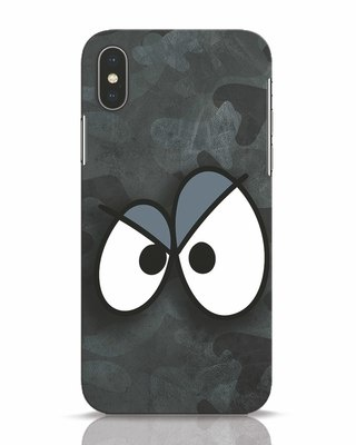 Shop Angry Camo iPhone X Mobile Cover-Front