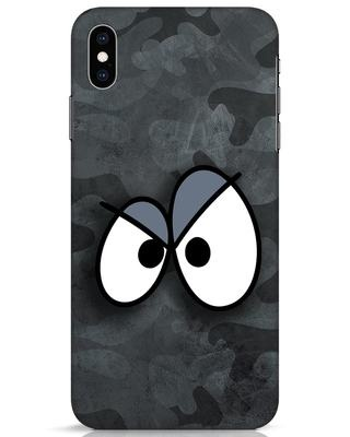 Shop Angry Camo iPhone XS Max Mobile Cover-Front