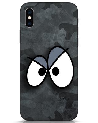 Shop Angry Camo iPhone XS Mobile Cover-Front