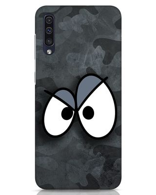 Shop Angry Camo Samsung Galaxy A50 Mobile Cover-Front