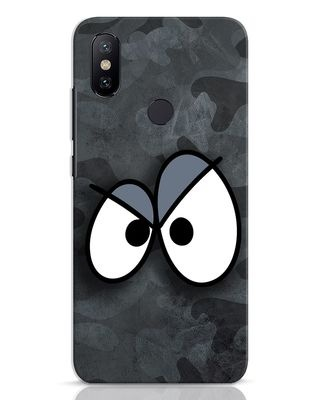 Shop Angry Camo Xiaomi Mi A2 Mobile Cover-Front