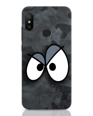 Shop Angry Camo Xiaomi Redmi 6 Pro Mobile Cover-Front