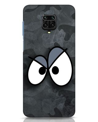 Shop Angry Camo Xiaomi Redmi Note 9 Pro Mobile Cover-Front