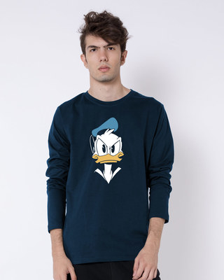 Shop Angry Donald Full Sleeve T-Shirt (DL)-Front