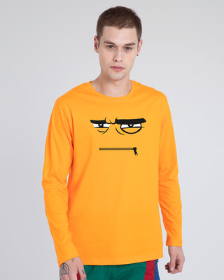 Shop Angry Zip Full Sleeve T-Shirt-Front