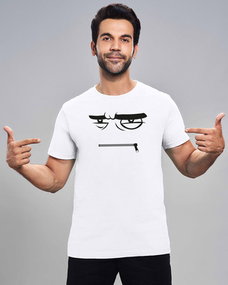 Shop Angry Zip Half Sleeve T-Shirt-Front