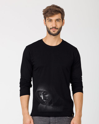 Shop Anonymous Hood Full Sleeve T-Shirt-Front