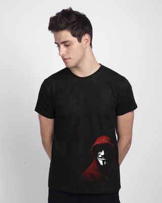 Shop Anonymous Mask Half Sleeve T-Shirt-Front