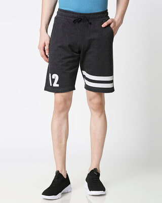 Shop Anthra Melange Men Shorts-Front