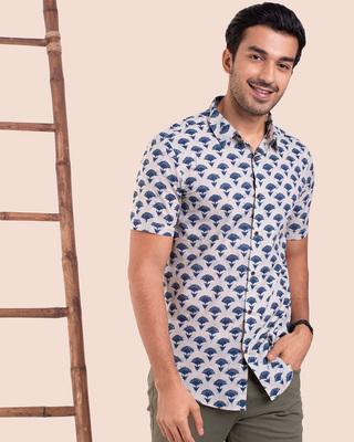 Shop Men's Half Sleeves Printed Shirt-Front