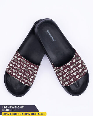 Shop AOP Tom & Jerry Women's Printed Sliders (TJL)-Front