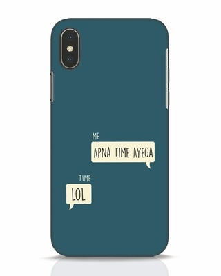 Shop Apna Time Aayega Lol iPhone X Mobile Cover-Front