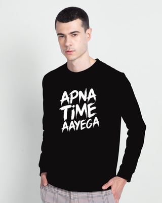 Shop Apna Time Ayega Fleece Light Sweatshirt-Front