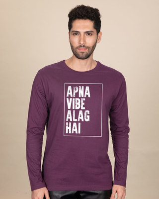 Shop Apna Vibe Alag Hai Full Sleeve T-Shirt-Front