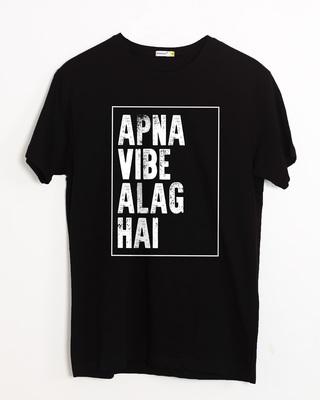 Shop Apna Vibe Alag Hai Half Sleeve T-Shirt-Front