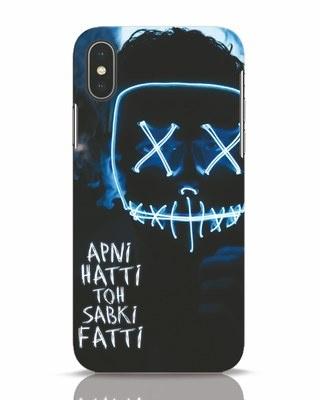 Shop Apni Hatti Toh Sabki Fatti iPhone X Mobile Cover-Front