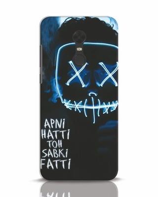 Shop Apni Hatti Toh Sabki Fatti Xiaomi Redmi Note 5 Mobile Cover-Front