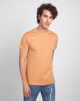 Shop Apricot Orange Half Sleeve T-Shirt-Front