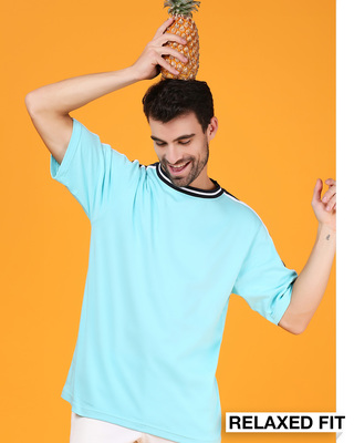 Shop Beach Blue Varsity T-Shirt-Front