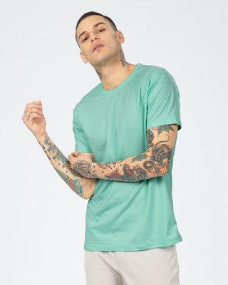 Shop Aqua Green Half Sleeve T-Shirt-Front
