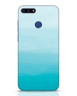 Shop Aqua Huawei Honor 7A Mobile Cover-Front