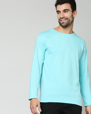 Shop Beach Blue Full Sleeve T-Shirt-Front