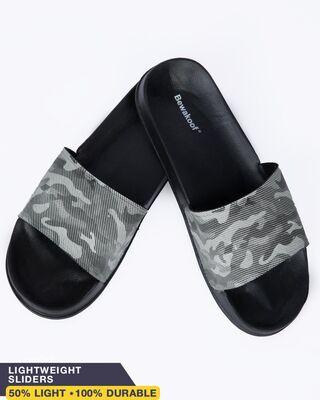 Shop Army Camo Lightweight Men's Slider-Front