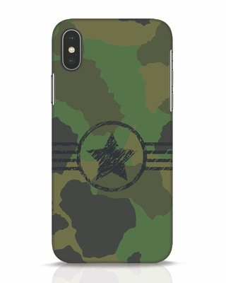 Shop Army iPhone X Mobile Cover-Front
