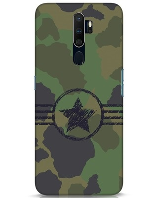 Shop Army Oppo A9 2020 Mobile Cover-Front