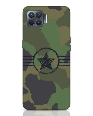 Shop Army Oppo F17 Pro Mobile Cover-Front