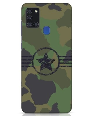 Shop Army Samsung Galaxy A21s Mobile Cover-Front