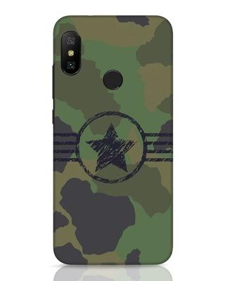 Shop Army Xiaomi Redmi 6 Pro Mobile Cover-Front