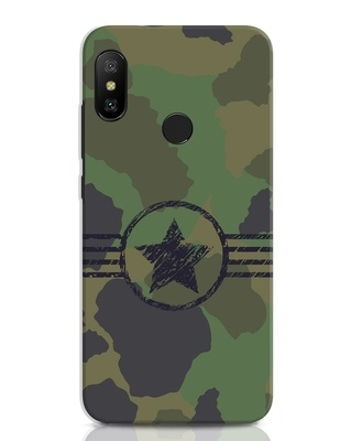 Shop Army Xiaomi Redmi Note 6 Pro Mobile Cover-Front