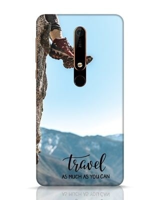 Shop As Much As You Can Nokia 6.1 Mobile Cover-Front