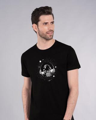 Shop Astronaut Space Half Sleeve T-Shirt-Front