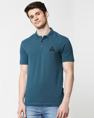 Shop Atlantic Deep Half Sleeve Shoulder Yoke Polo-Front