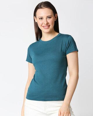 Shop Atlantic Deep Half Sleeve T-shirt-Front