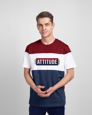 Shop Attitude Block Color Block T-Shirt-Front