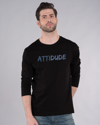 Shop Attitude Dude Full Sleeve T-Shirt-Front