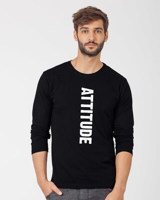 Shop Attitude Full Sleeve T-Shirt-Front