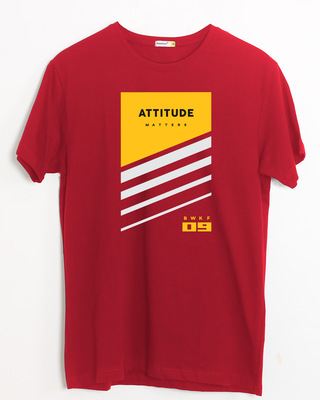 Shop Attitude Yellow Half Sleeve T-Shirt-Front