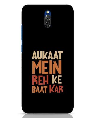 Shop Aukaat Mein Reh Kar Baat Kar Xiaomi Redmi 8A Dual Mobile Cover-Front