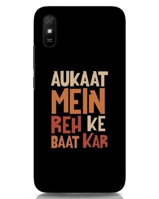 Shop Aukaat Mein Reh Kar Baat Kar Xiaomi Redmi 9A Mobile Cover-Front