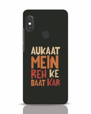 Shop Aukaat Mein Reh Kar Baat Kar Xiaomi Redmi Note 5 Pro Mobile Cover-Front