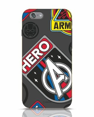 Shop Avenger Badge iPhone 6s Mobile Cover (AVL)-Front