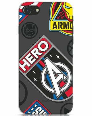 Shop Avenger Badge iPhone 7 Mobile Cover (AVL)-Front